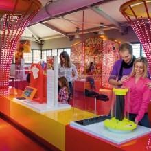 Des jeux inspirés des machines de l'usine, installée à côté du musée.