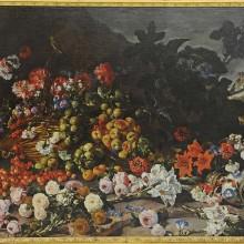 Paolo Porpora : Fleurs fruits et rouge.