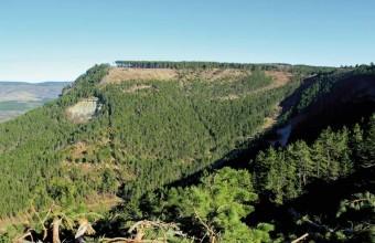 Le ravin des Enfers vu depuis l'itinéraire de cette randonnée.