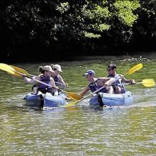 Les sports d'eaux vives, canoë, canyoning ou paddle sont très prisés.